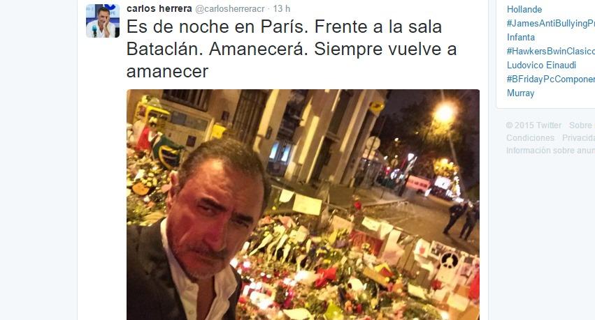 El polémico selfie del periodista Carlos Herrera
