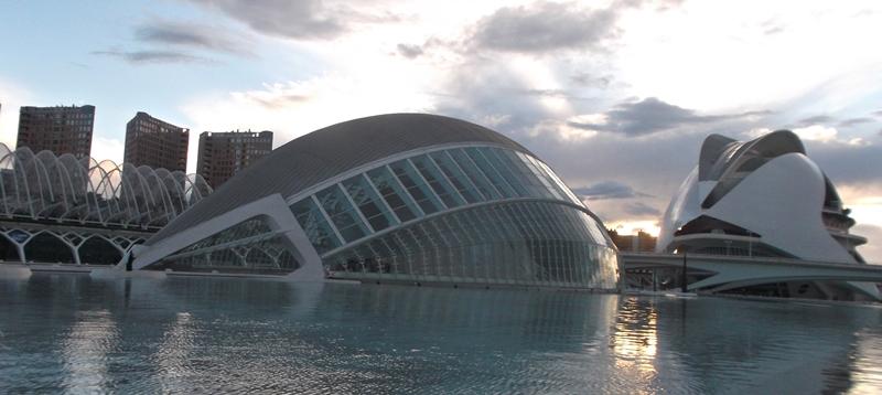 Ciudad de las Artes y las Ciencias en Valencia.