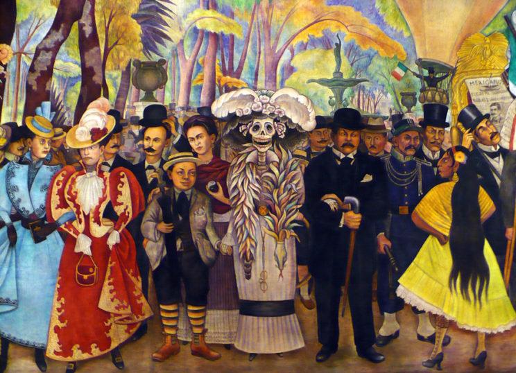 La Catrina en la obra de Diego Rivera